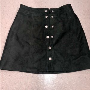 h&m black suede skirt!